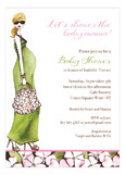 Fashionable Mom Green - Blonde Invitation