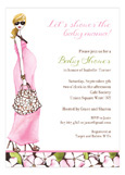 Fashionable Mom Pink - Blonde Invitation