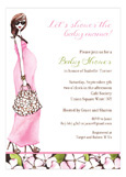 Fashionable Mom Pink - Brunette Invitation