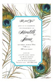 Peacock Feathers Invitation