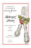 Festive Cutlery Invitation