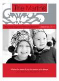 Festive Flourish Red Photo Card