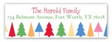 Festive Forest Address Label