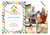 Festive Holiday Stripes Multi Photo Card