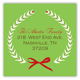 Festive Holiday Wreath Square Sticker