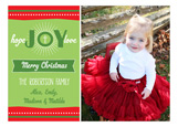 Festive Hope Joy Love Photo Card