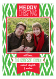 Festive Merry Christmas Banner Photo Card