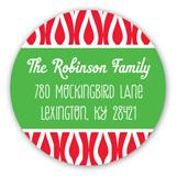 Festive Merry Christmas Banner Round Sticker