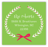 Festive Merry Wreath Square Sticker