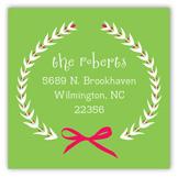 Festive Merry Wreath Square Sticker