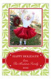 Festive Red and Lime Band Photo Card