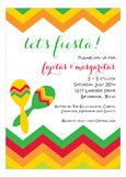 Fiesta Maracas Invitation