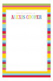 Fiesta Stripes Notepad