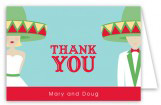 Fiesta Wedding Blond Folded Note Card