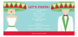 Lets Fiesta Bridal Blonde Shower Invites