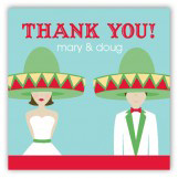 Fiesta Wedding Brunette Gift Tag