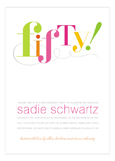 Fifty! 50th Birthday Invitations for Her