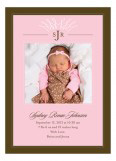 Filigree Monogram Pink Photo Card