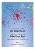 Fireworks 4th of July Party Invitations