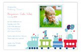 First Birthday Train Photo Card