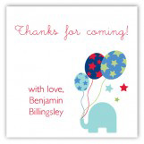 First Birthday Elephant Party Sticker