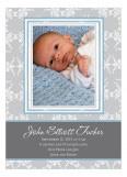 Fleur de Lis Blue Photo Card