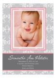 Fleur de Lis Pink Photo Card