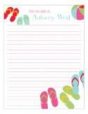 Flip Flops Notepad