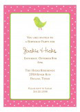 Floral Birdie Invitation