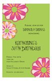 Floral Burst 30th Birthday Invitations