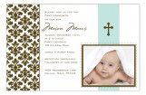 Floral Damask Photo Card