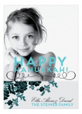 Floral Festival Of Lights Hanukkah Photo Card