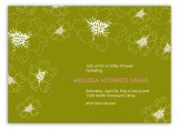 Floral Green Invitation