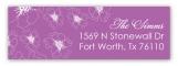Floral Radiant Orchid Address Label