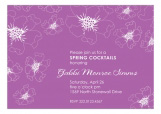 Floral Radiant Orchid Invitation