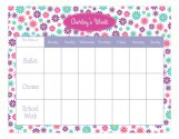 Flower Power Weekly Calendar Pad
