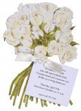 White Rose Flowers Bridal Shower Invites