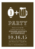 Football and Beer Invitation