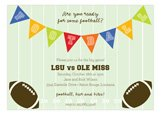Football Bunting Invitation