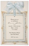 Frame Blue Boys Baby Shower Invites