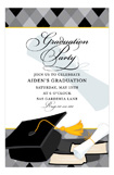 Fun Argyle Grad Grey Invitation