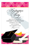 Fun Argyle Grad Pink Invitation