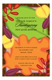 Fun Fall Leaves Invitation