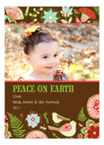 Fun Floral Peace on Earth Photo Card