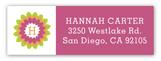 Fun Flower Monogram Address Label