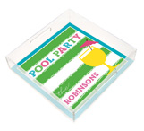 Fun Pool Party Square Lucite Tray