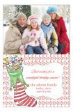 Fun Stocking Photo Card