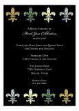 Funky Fleur de Lis Invitation