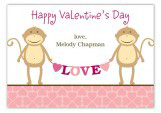 Funny Monkey Valentine Card