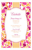 Fuschia Ochre Lotus Invitation